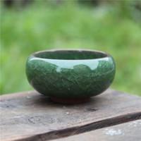 Prático rodada cerâmica Jardim pote respirável mini plantadores para casa desktop planta suculenta vaso frete grátis YYS4454
