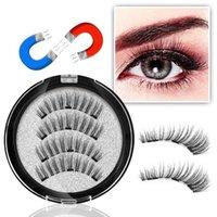 Cílios falsos Genazish Magnética 3 Magnéticas Cílios Handmade Maquiagem Extensão Olho Eyelash-KS09-3
