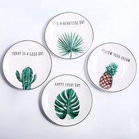 Westerndessert Gericht Pastoralsteak Keramik Platten Snack Teller Buchstaben Porzellan Geschirr Kuchenplatte