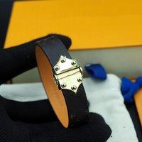 Blume Lederarmband Six Nagelleder Armband Schnalle Kalbsleder Armband Männer und Frauen können Schmuckversorgung tragen