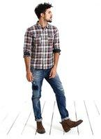 Toptan-Kot Erkekler Yeni Varış Simwood Marka Giyim Mavi Slim Fit Casual Denim Pantolon Yüksek Kalite Ücretsiz Kargo1