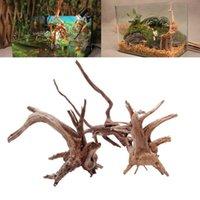 جذع الشجرة الطبيعية Driftwood حوض السمك خزان الأسماك الزواحف صنع جذور نبات الخشب زخرفة زخرفة