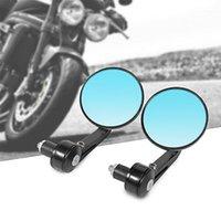 "Mircycle Mirrors RACBOX 1PAIR 7/8 ""22mm Aluminio Redondo Retrovisor Handle Bar End Side Retroviliseur Moto Guidon Spirors1"