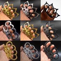 Altın Cehennem Dedektif Constantine Pirinç Knuckle Dusters Altın Güçlü Hasar Güvenlik Ekipmanları, Yaldızlı Çelik Knuckle Duster Kendini Savunma FY4367