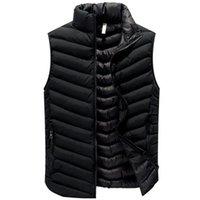 조류 NEW 가을 겨울 조끼 민소매 재킷 남성 캐주얼 따뜻한 조끼 Gilet 남성 방풍 조끼 5XL Chalecos 파라 험 브레