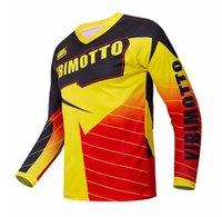 Patlayıcı Yibimotto Off-Road Yarış Hızı Teslim Uzun kollu Tişört erkek Motosiklet Polyester Hızlı Kurutma Takım Özelleştirilebilir