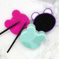 Maquillaje pincel limpiador silicona lavado pinceles limpieza esponja y estera cepillos cosméticos limpiar scrubber Foundation Limpieza Pad maquillaje también