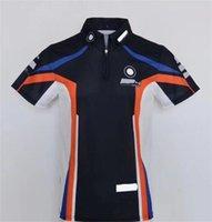 2021 New Summer Racing Poloshirt Motorrad Reiten Kurzärmeliger Ritter Schnelltrocknung Atmungsaktive Team Uniform Lokomotive Revers