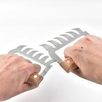 Holzgriff Metall Fleischkrallen Edelstahl Fleischgabeln BBQ Fleisch Shredder Claws Küche Sharp Messer Werkzeuge