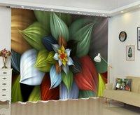 Бабсон Цвет Цветок 3D Цифровой печатный Занавес DIY Занавес Усовершенствованный пользовательский фото1