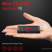 x96 S400 2GB + 16GB 안드로이드 10.0 TV 박스 스틱 Allwinner H313 쿼드 코어 4K 60FPS 2.4G 와이파이