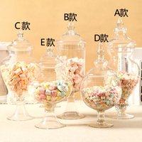 Transparent candy European lead-free glass tank food jar wedding dessert decoration storage bottle T200507