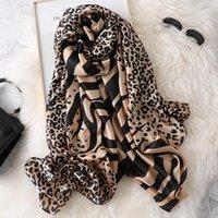 Bufandas 2021 Estilo Otoño e invierno Mujeres Playa Calidad Mantón China China Luxury Silk Lady Fashion Print HIJAB1