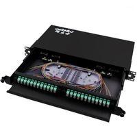 Boîte de terminaison de fibre de montage en rack pour 48 Core UPC APC LC Patch Patch Patch Patch Cadre de distribution optique ADF Push-Pull Type1