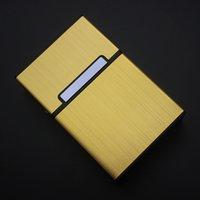Metall Zigarettenetui Aluminiumlegierung Feste Farbe Männer Zigarrenhalter Praktische Rauchbehälter für Geschäftsgeschenke 7 3DH E1