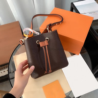 Luxurys Designers Sacos Moda Mulheres Cross Body Impresso Handbag Senhoras Couro Genuíno Bolsa De Couro Bolsa 2021 Mini Bucket Small Crossbody Bolsas