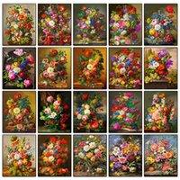 Diamond Painting Full Square Ricamo Rosa 5D FAI DA TE Stitch Croce Peonia Fiori Colore rotondo Mosaico Farfalla