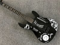 Factory Custom Black Electric Guitar with Moon Pattern, Black...