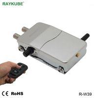 Raykube Intelligent Bloqueio de Porta Invisível Bloqueio sem fio sem fio com chaves remotas Abertura para segurança em casa R-W391