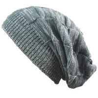Foritas de dos colores sombrero plisado cálido jersey calle baile cuadrado tejido lana tejido