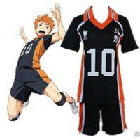 Haikyuu Shouyou Hinata Karasuno Volleyball No.10 Uniform Jersey Cosplay