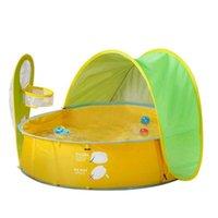 Elos-portatile Beach Beach Pool Tental Protezione UV Tenda da sole Racchetta GIOCO TENT1