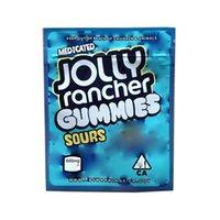 New Jolly Rancher Gummies Bag Mylar 600mg Sour Resealable Medicável Edibles Pacote Mylar Sacos Jolly Rancher Airheads