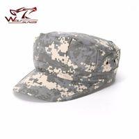 WOLFSLAVES TActical Hat achteckige Armeekappe ACU CP Camouflage Jagdhut Combat Solider Jagdzubehör1