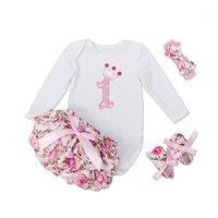 Newborn Infant 4pcs Ropa Sets Baby Girls Body Body Tutu Bloomers Zapatos Diadema Princesa 1ra Fiesta de cumpleaños Costume1