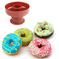1 ADET Donuts Kek Kalıp Ekmek Kalıp Şekerleme-Araçları Kek Için Pişirme Araçları Donuts Maker Mutfak Ürünleri Pişirme Pasta Tomunları1