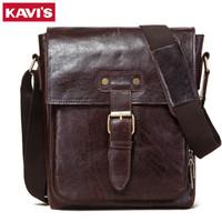 Kavis подлинная корова кожа мужская сумка мода мужская сумка посланник известное бренд мужской поперечный плечо деловые сумки высокое качество