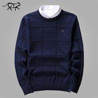 Сплошные цветные свитера мужские o шеи пуловер мужчины с длинным рукавом мужской свитер повседневная платье мужской бренд кашемир проверки трикотаж мужчина тянуть 201028