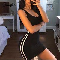 Casual Kleider Simplee Sexy Solid Gestrickte Dünne Frauen Kleid Lange Gerade Hosentum Frühling Herbst Elegante Damen Runde 20211