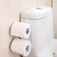 Wiilii 1 PC Ferro Ferro 2 Camadas de papel higiênico Papel Ganchos de prateleira Banheiro Suspensão Organizador Cozinha Armário Toalha Toalha Titular T200425