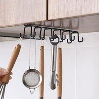 Küche 12 Haken Schrank Türregal Doppelreihe Haken Tasse Aufbewahrung Hanging Rack Kleiderschrank Aufhänger Krawatte Organisierte Schrank Türständer