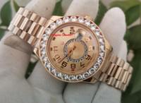 Envío gratis topselling de alta calidad 18k oro amarillo 44mm Diamante Bezel 326938 Asia 2813 Movimiento Mecánico automático MENS MENS RELOJ DE RELOJES
