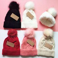 겨울 비니 모자 두꺼워 비니 니트 모자 남성 여성 6colors DHL 배송 캐주얼 캡을 따뜻하게