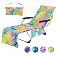 Tie- dye Swimming Towels Lounger Mate Beach Towel Microfiber ...