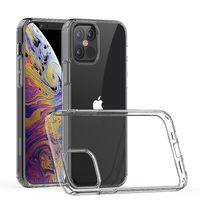 Para o iPhone 11 12 Pro Max Mini 5,4 XR XS Capas telefônicas transparentes TPU Acrílico Clear Galaxy S20 S21 Fe C