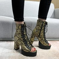 Lady Sexy Party Motorcycle Boots Summer Shoes Women Fish Mou...