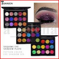 15 renk Teayason Elmas Tozu Altın Parlak Göz Farı Su geçirmez Işıltılı Glitter Göz Farı Paleti 3 Styles Pressed