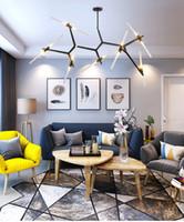2020 Moderno LED Lampadario Lampadario per sala da pranzo Soggiorno Lustrello Salone Moderno Vetro Lampadario in vetro Sospensione Apparecchio di illuminazione