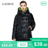 GASMAN Fashion brand black thick down parka Women's winter jacket women's coat warm outwear Female hooded puffer jacket 072 201020