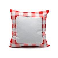 2020 blanco sublimación de la tela escocesa de almohada impresión por transferencia térmica Funda de almohada Sudoku Cojín almohadilla de tiro del sofá Decoración F102004