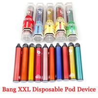 Bang XXL 전자 담배 일회용 포드 장치 키트 800mAh 전원 배터리 미리 채워진 6ml 2000 퍼프 XXTRA 키트 VAPE 빈 펜 바 플로우 XTRA Plus XL GunnPod Hyppe
