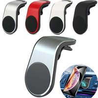 L Форма Магнитный держатель Автомобильный телефон Air Vent Mount Встаньте GPS Mobile Автомобильный держатель для телефона iPhone 11 Pro для Samsung кронштейну