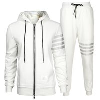 Men' s Zipper Hoodies Casual Set Man Tracksuits With Mer...