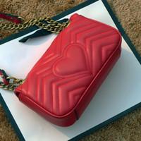 Luxurys Bag Designers Wavy Mini продал HAN Bag Bag Подлинные кошельки 2020 Горячая женская мода Marmont сумки любят кожаную цепочку WQJO CROS DFME