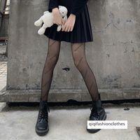 Noir Lettre Soye Bas Soye Bascules Net Rouge Impression Fashion Marque Automne et Hiver Chaussettes d'hiver Épaississement en peluche sexy pour enfants