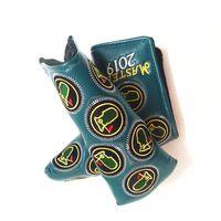 Гольф клюшки Крышка головки Кожа PU Golf Greens вышивки Golf хиджаб для Клинка